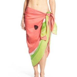 New kate spade sarong swim cover up watermelon